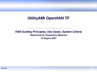 UtilityAMI OpenHAN TF