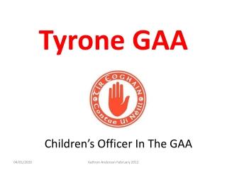 Children's Officer In The GAA