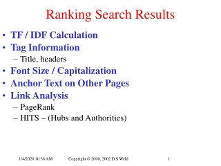 Ranking Search Results