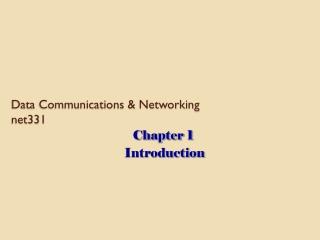 Data Communications & Networking net331