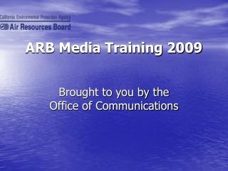 ARB Media Training 2009