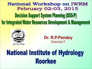 Decision Support System Planning (DSS-P) for Integrated Water Resources Development & Management