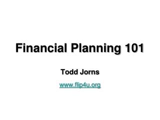 Financial Planning 101