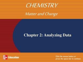 Chapter 2: Analyzing Data