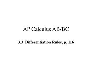 AP Calculus AB/BC