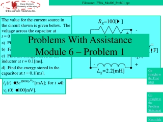Problems With Assistance Module 6 – Problem 1