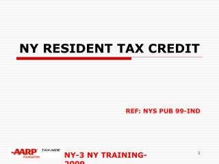 NY RESIDENT TAX CREDIT
