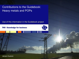 Use of this information in the Guidebook project
