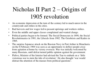 Nicholas II Part 2 – Origins of 1905 revolution