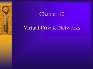 Chapter 10  Virtual Private Networks