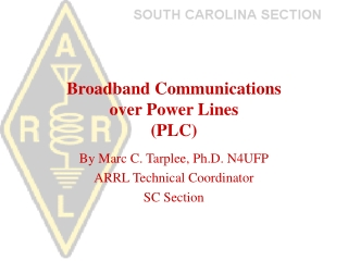 Broadband Communications  over Power Lines (PLC)