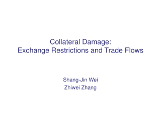 Collateral Damage:  Exchange Restrictions and Trade Flows