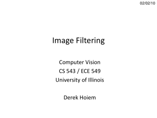 Image Filtering