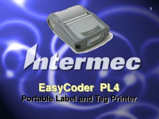 EasyCoder  PL4 Portable Label and Tag Printer