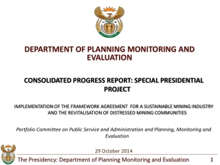 DEPARTMENT OF PLANNING MONITORING AND EVALUATION