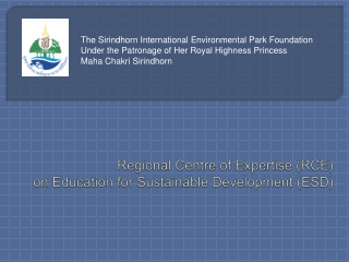 Regional Centre of Expertise (RCE)  on Education for Sustainable Development (ESD)