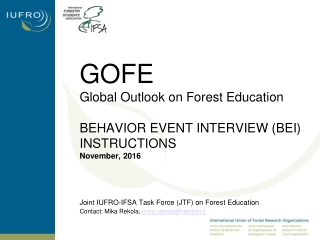 Joint IUFRO-IFSA Task Force (JTF) on Forest Education