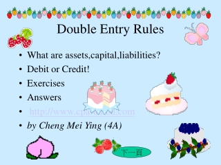 Double Entry Rules