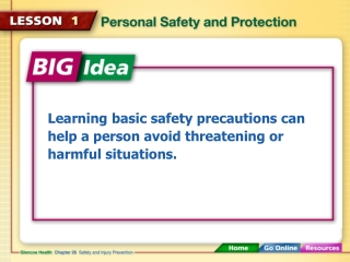 Learning basic safety precautions can help a person avoid threatening or harmful situations.