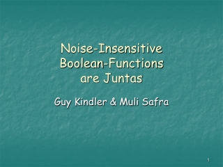 Noise-Insensitive  Boolean-Functions  are Juntas