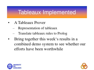 Tableaux Implemented