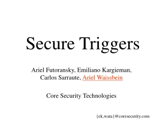 Secure Triggers