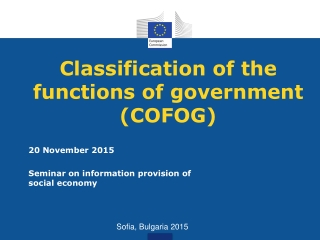 Classification of the functions of government (COFOG)