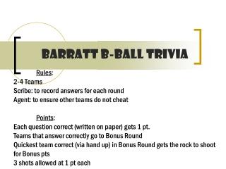 Barratt b-ball trivia