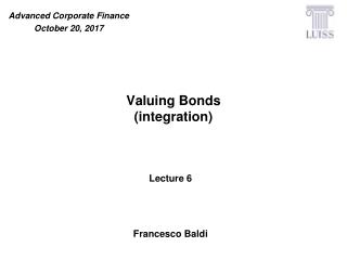 Valuing Bonds (integration)