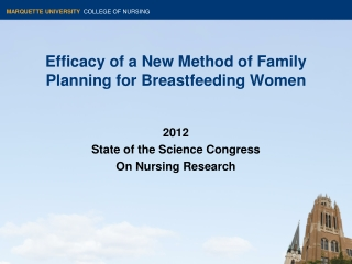 Efficacy of a New Method of Family Planning for Breastfeeding Women