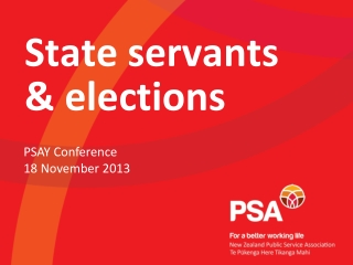 State servants & elections