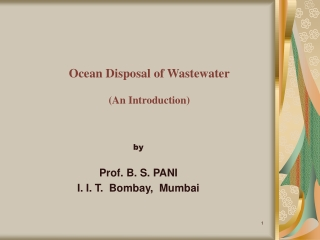 Ocean Disposal of Wastewater (An Introduction)