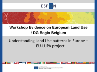 Workshop Evidence on European Land Use / DG Regio Belgium