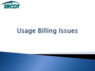 Usage Billing Issues