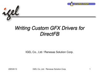 Writing Custom GFX Drivers for DirectFB