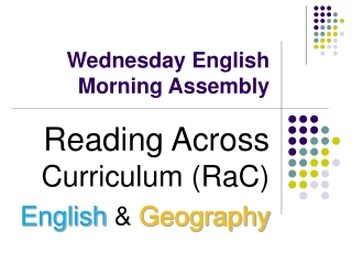 Wednesday English Morning Assembly