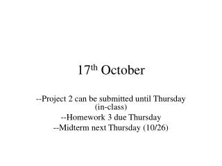 17 th  October