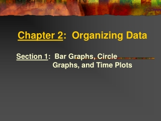 Chapter 2 :  Organizing Data