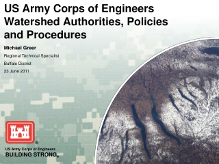 US Army Corps of Engineers Watershed Authorities, Policies and Procedures