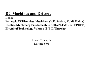 DC Machines and Drives . Books  Principle Of Electrical Machines  (V.K. Mehta,Rohit Mehta)