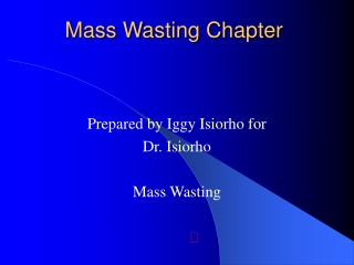 Mass Wasting Chapter