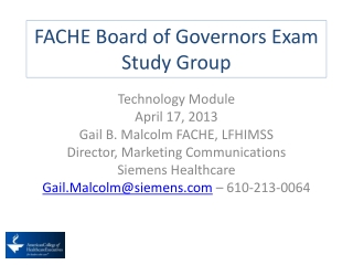 FACHE Board of Governors Exam Study Group