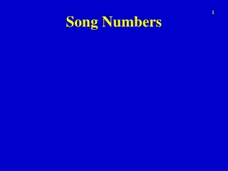 Song Numbers