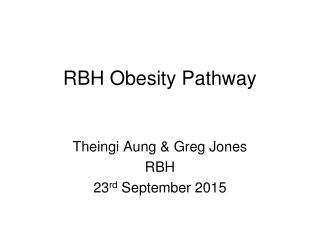 RBH Obesity Pathway