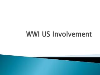 WWI US Involvement