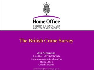 The British Crime Survey