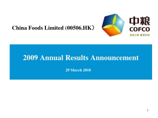 2009 Annual Results Announcement