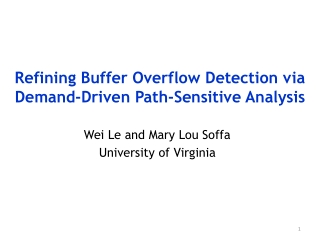 Refining Buffer Overflow Detection via Demand-Driven Path-Sensitive Analysis