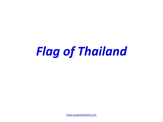 Flag of T hailand