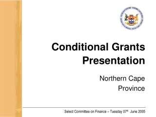 Conditional Grants Presentation